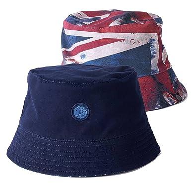 8e92614669a Pretty Green Reversible Bucket Hat Navy Union Jack  Amazon.co.uk  Clothing