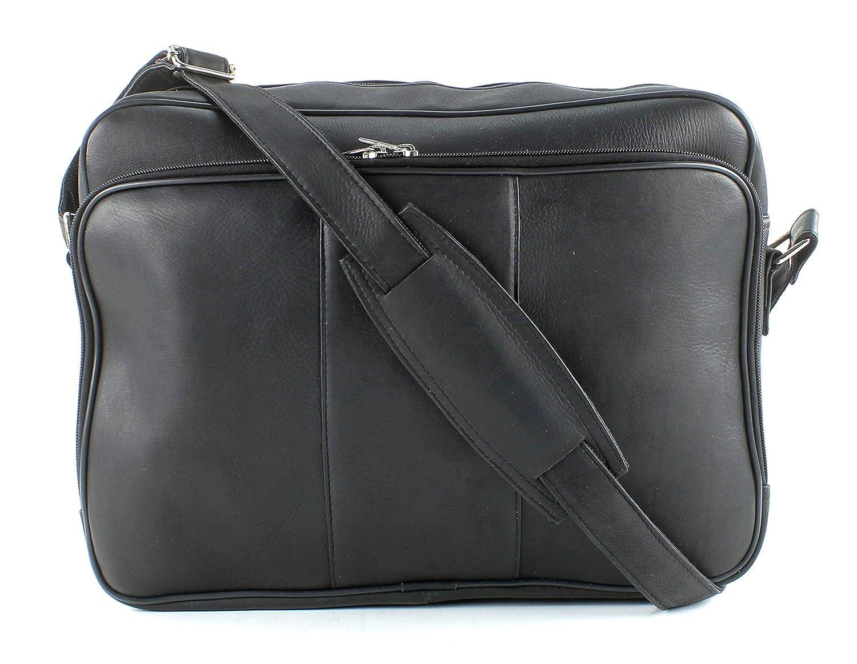 Aspen Leather Zip Top Messenger Bag Brown