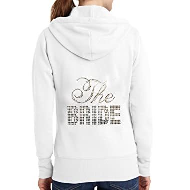 The Bride Rhinestone Hoodie - White