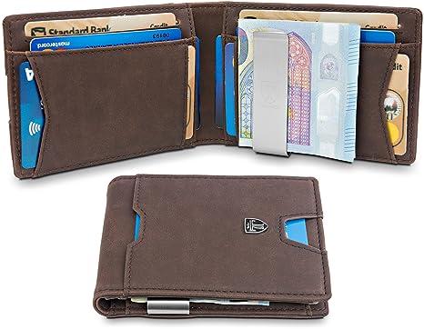 "1d3d8fb3df4afb TRAVANDO ® Wallet Mens with Money Clip ""Bogota"" RFID Blocking Slim Wallet |  Credit"