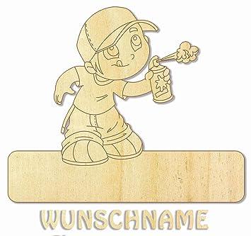 Namensschild Turschild Graffiti Motiv 1 Mit Wunschnamen Aus Holz