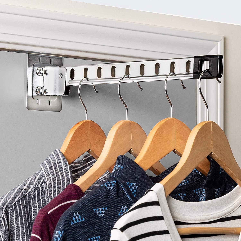 """1-3//8/"""" Door Thickness Chrome Finish Over Door Coat and Garment Hook"""