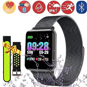 PalmTalkHome Montre Connectée Bracelet - IP67 Etanche Smartwatch Fitness Tracker dActivité Cardiofréquencemètre Cardio Podomètre