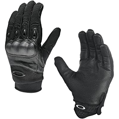 Oakley Mens Factory Pilot Glove, Black, Large: Clothing