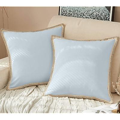 Velvet Cushion Cover Blue Black 24x24 Vintage Decor Velvet Pillow Case Cotton Silk Zippered Bohemian Eclectic Decor 60x60 cm