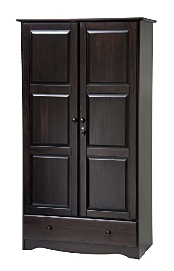 Incroyable 100% Solid Wood Universal Wardrobe/Armoire/Closet By Palace Imports, Java  Color