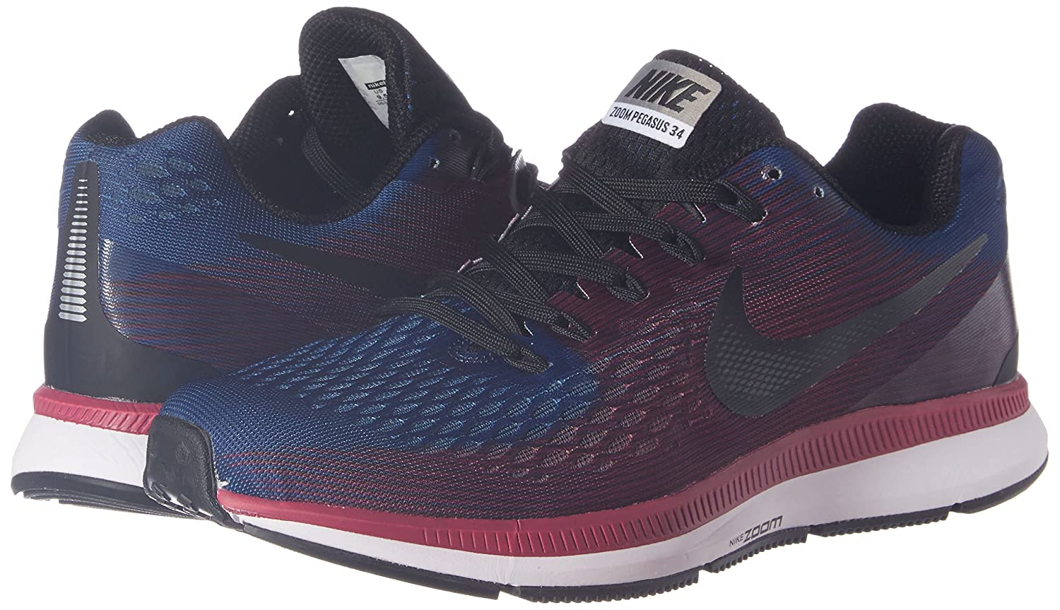 79c292cfd9 Nike Men s Air Zoom Pegasus 34 Blue Running Shoes - 8.5 UK India (43  EU)(9.5 US)(8880555-400)  Buy Online at Low Prices in India - Amazon.in
