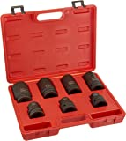 "Neiko 02487B Cr-Mo 1"" Drive Impact Socket Set for Truck and Tire Service"