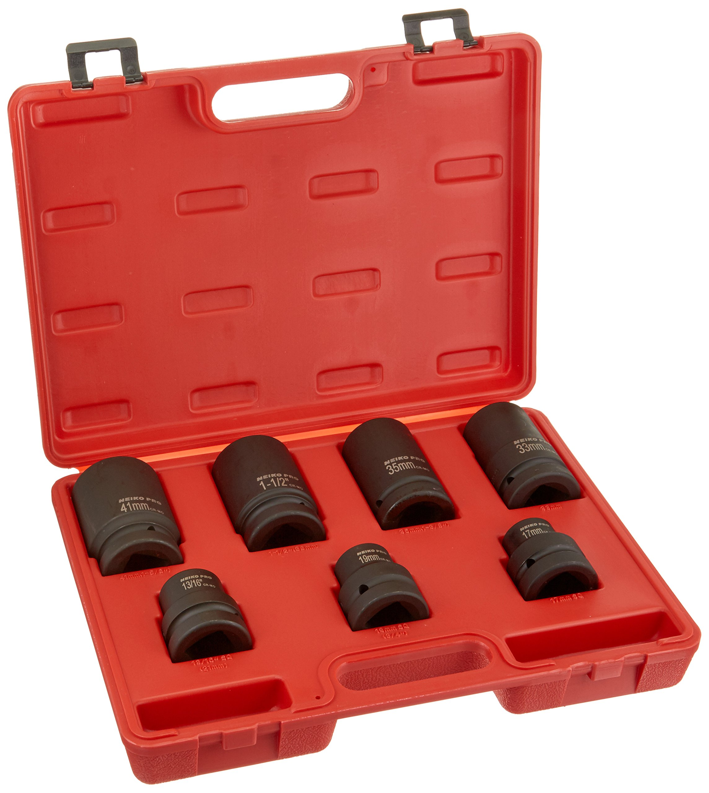 Neiko 02487B Cr-Mo 1'' Drive Impact Socket Set for Truck and Tire Service by Neiko (Image #1)