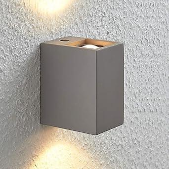 Lampenwelt Led Beton Wandleuchte Wandlampe Innen Cataleya Modern In Alu Aus Beton U A Fur Wohnzimmer Esszimmer 2 Flammig A Inkl Leuchtmittel Wandstrahler Wandbeleuchtung Schlafzimmer Amazon De Beleuchtung