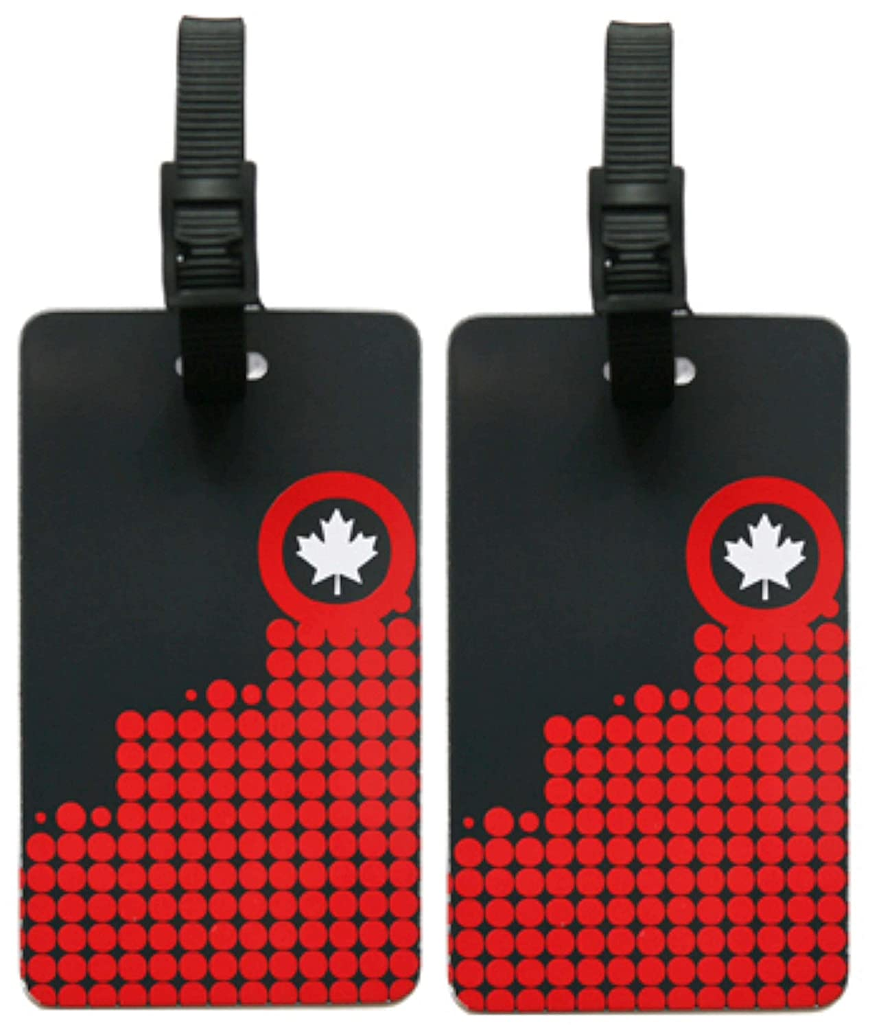 ORB Travel-EM203-CANADA 150-Multi-Colour-2-Pack Luggage Name Tags ID Label Set of 2 Tags Business Card Suitcase Label