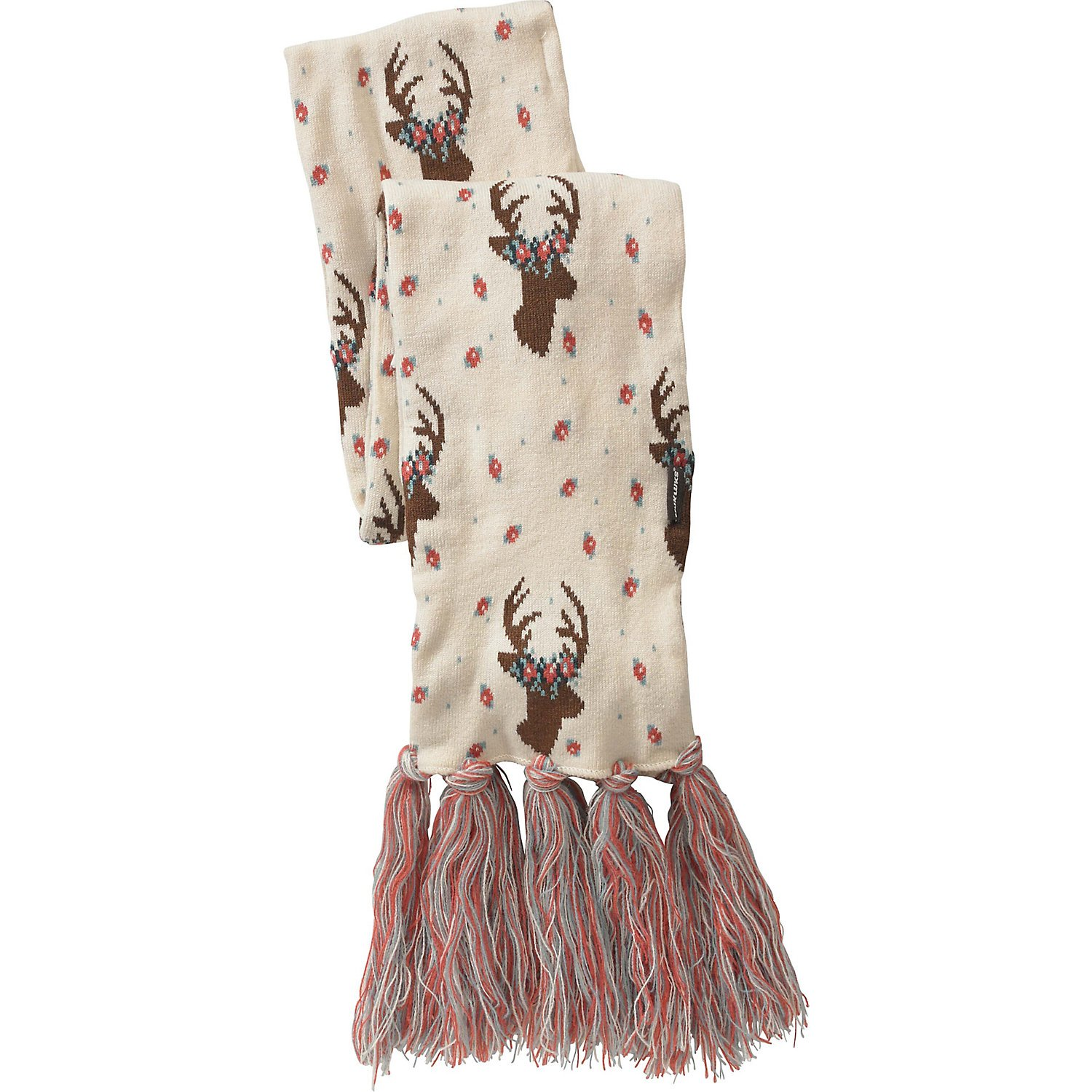 Legendary Whitetails Ladies Happy Glamper Floral Deer Scarf White