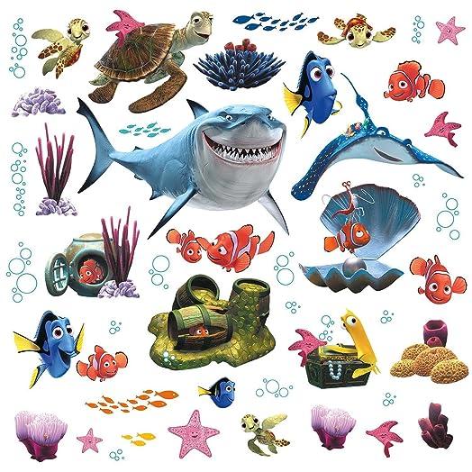 RoomMates Childrenu0027s Repositonable Disney Wall Stickers Finding Nemo,  Multi Color Part 34