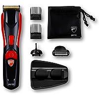 Ducati By Imetec Kit Regolabarba GK 618 Gearbox, 8 in 1 per Viso e Corpo, Lame in Acciaio Inossidabile, Rifinitore di Precisione, Body Shaver