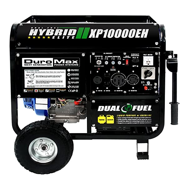 DuroMax XP10000EH, Dual Fuel Powered Portable Generator