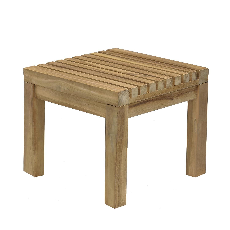Jan Kurtz Nice Solid Teak Wood Stool Table Outdoor Indoor & 492875