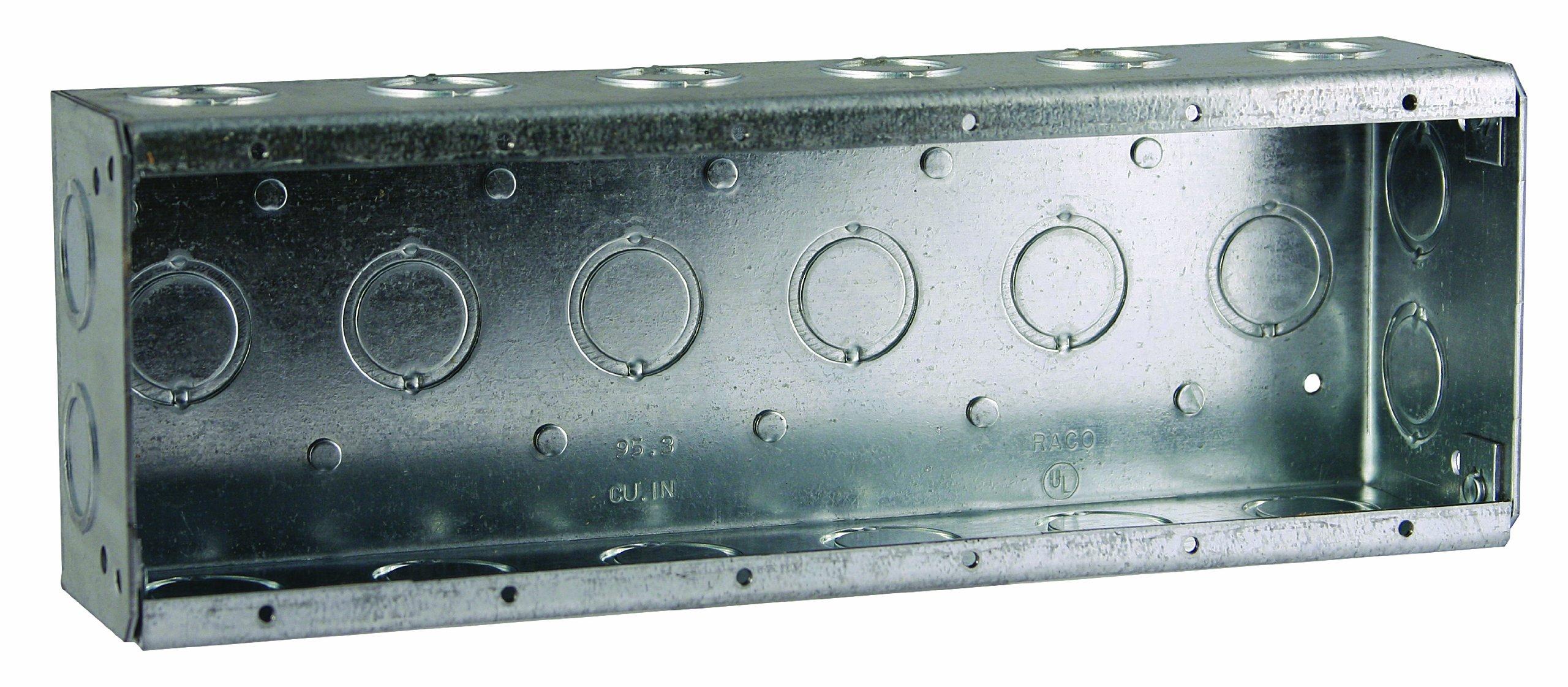 Hubbell-Raco 960 2-1/2-Inch Deep 95.3 Cubic Inch 6-Gang Nongangable Masonry Box