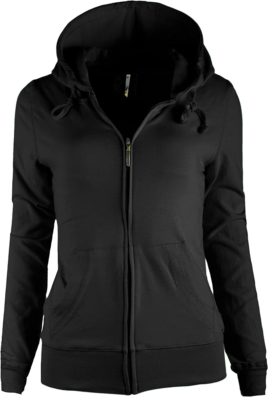 Tl Women S Knit Stretch Zipper Solid Casual Zip Up Hoodie Jackets In Colors At Amazon Women S Clothing Store
