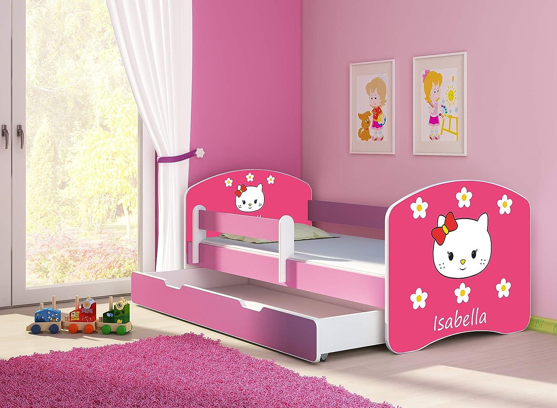 33 Kitties, 160x80 cm FREE MATTRESS DRAWER II PINK140x70 160x80 180x80 ACMA TODDLER CHILDREN KIDS BED