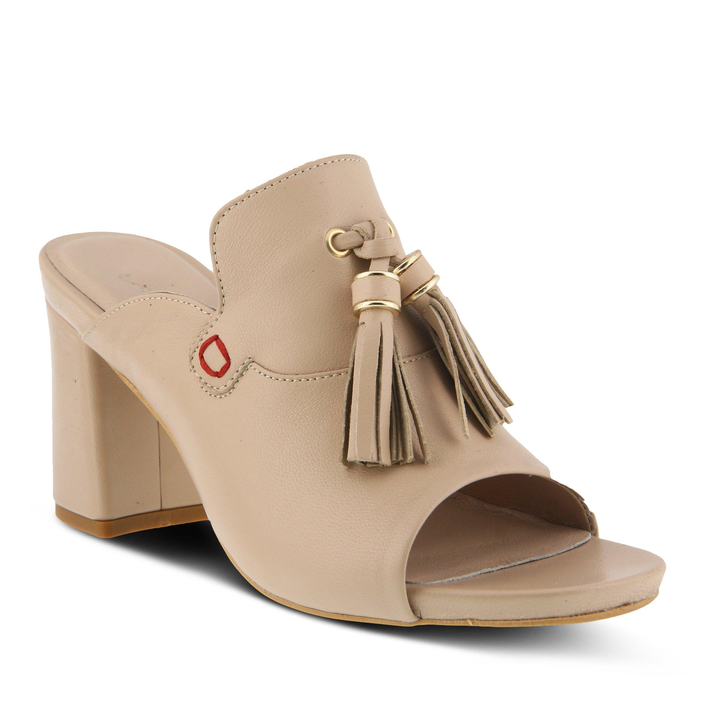 Azura Women's Style Brunilda Beige EURO Size 36 Leather Slide Sandal