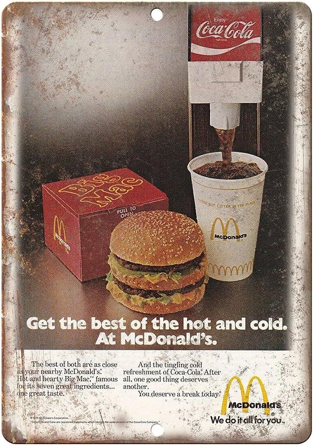 "Vintage McDonald/'s Original Menu 10/"" x 7/"" Reproduction Metal Sign N13"