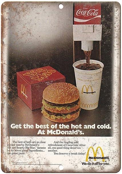 Amazon com: McDonald's Big Mac Coke Vintage Ad 12