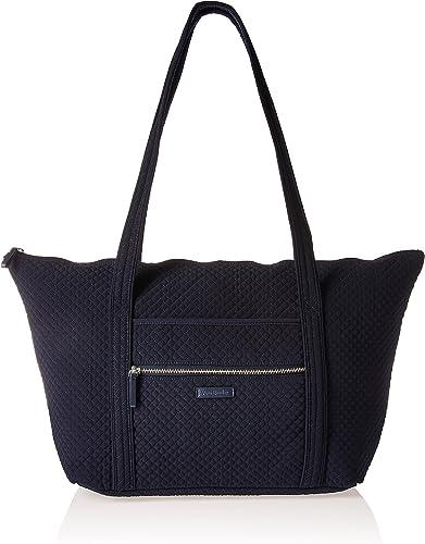 Vera Bradley Microfiber Miller Tote Travel Bag, Classic Navy