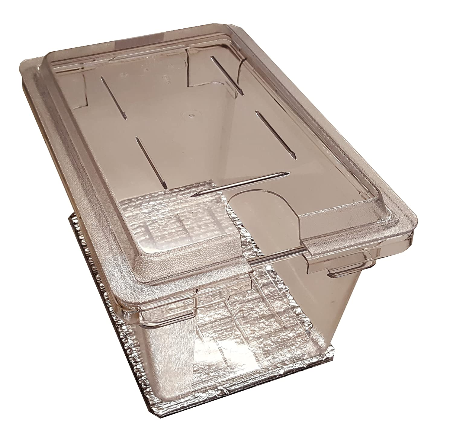 Perfect-Sousvide 5PL1 Clear 4.75 Gal. (19 qt). Polycarbonate Pan and Custom Notched Lid for Circulator Sous Vide