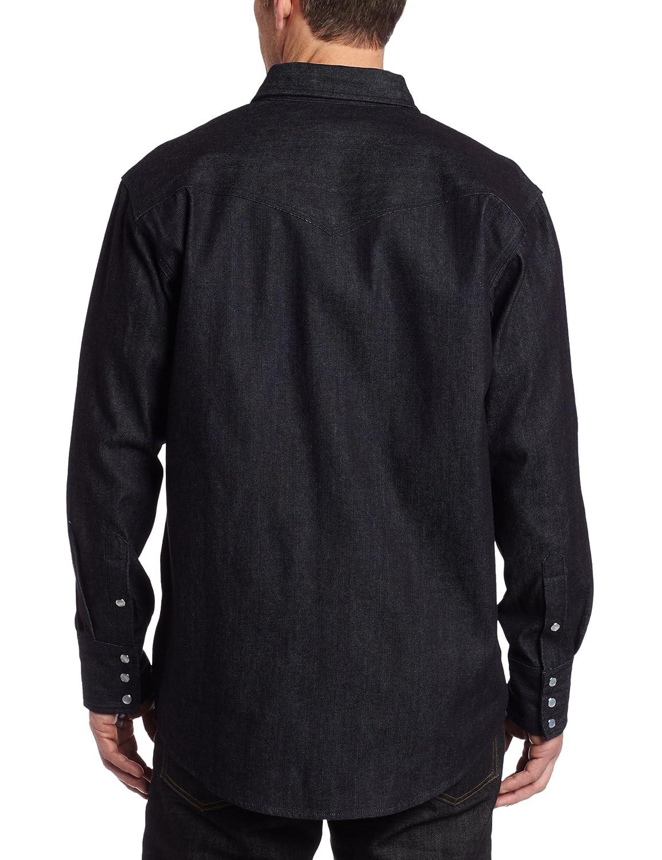 cf10b820404 Amazon.com  Carhartt Men s Ironwood Denim Work Shirt Long Sleeve Snap Front  Relaxed Fit  Button Down Shirts  Clothing