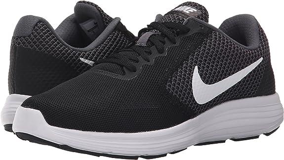 Nike Revolution 3 - Zapatillas de Entrenamiento, Mujer, Negro (Dark Grey/White-Black 001), 35.5: Amazon.es: Zapatos y complementos