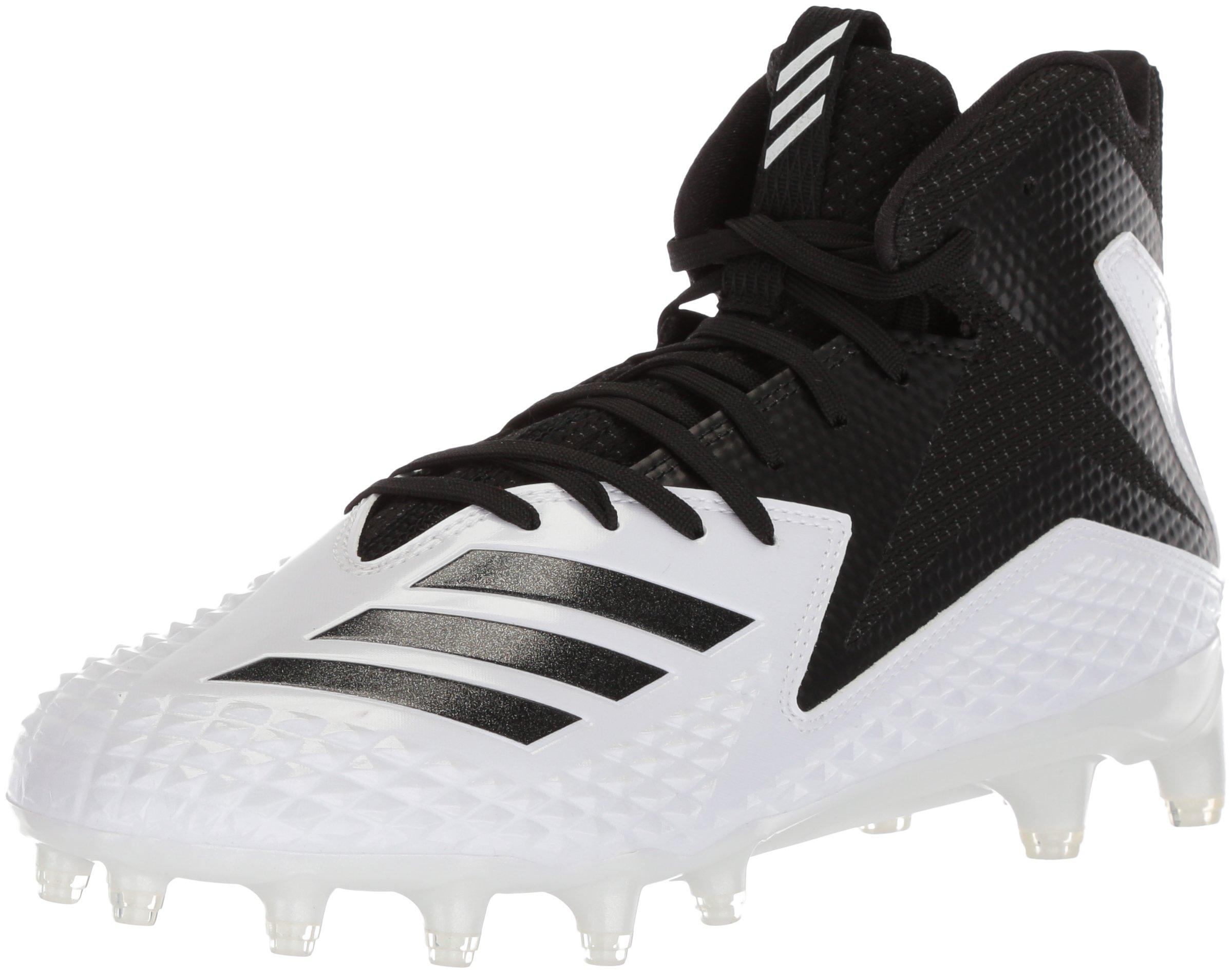 adidas Men's Freak X Carbon Mid Football Shoe, White/Black/Black, 17 M US by adidas