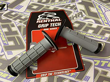 Renthal Dual Compound Motocross MX Handlebar Grips GREY//YELLOW RM//RMZ