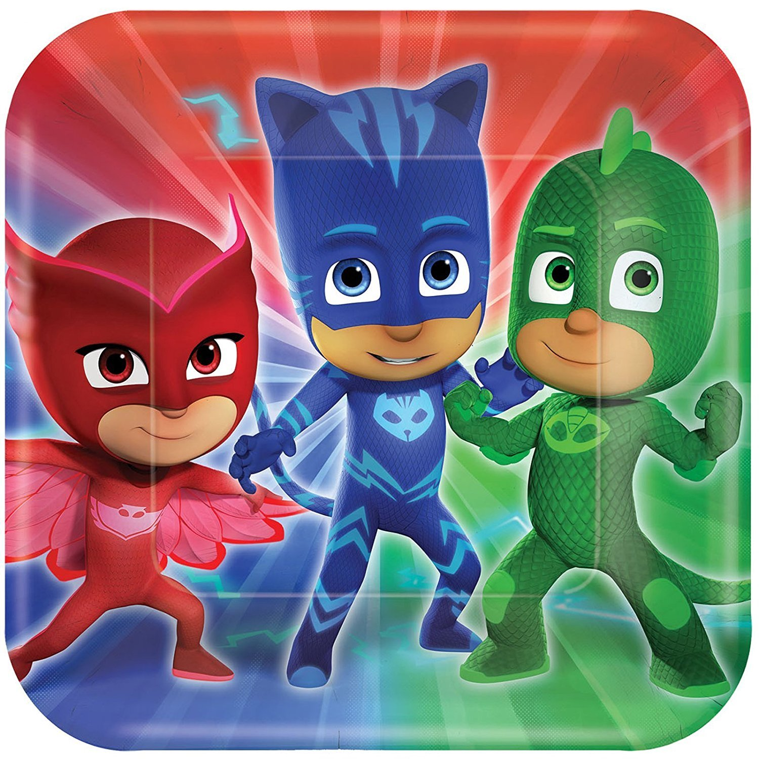 Amazon.com: PJ Masks Party Supplies Pack for 16 Guests: Straws, Dinner Plates, Luncheon Napkins, Table Cover, and Cups: Toys & Games