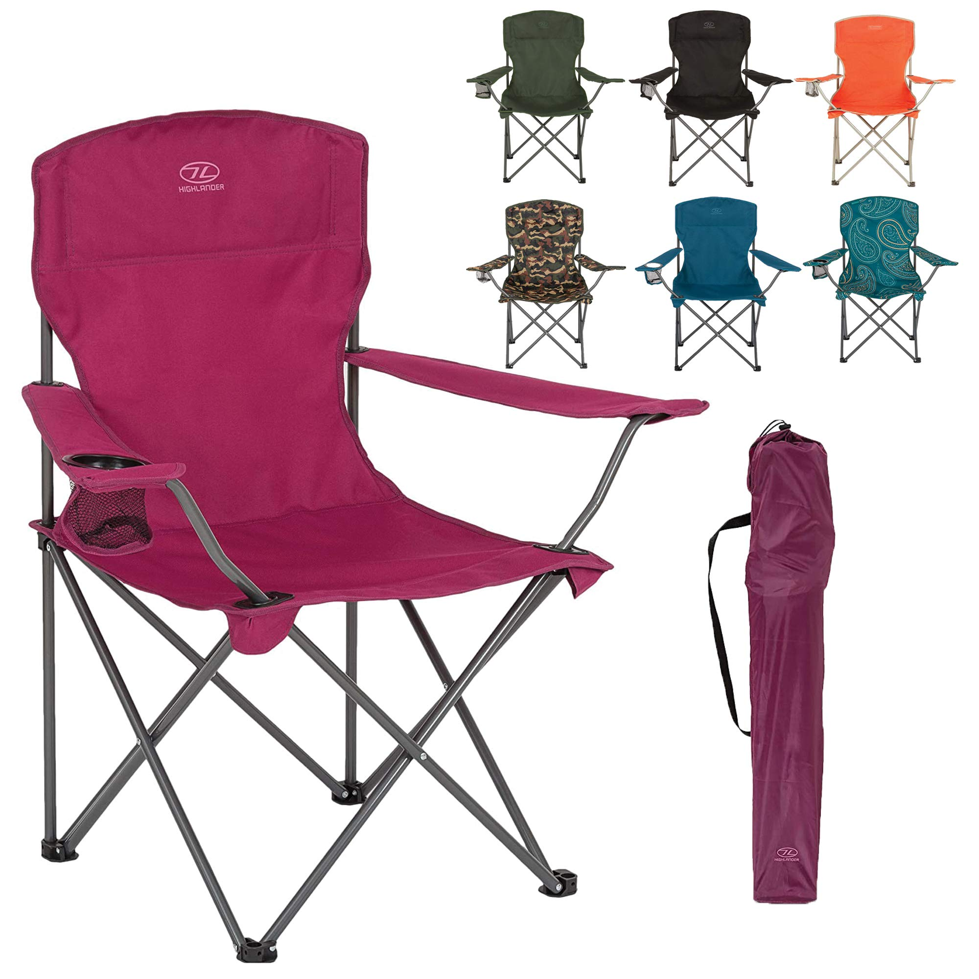 Highlander Compact Folding Campeggio /& Fishing Stool
