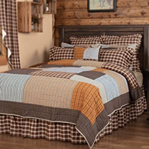 VHC Brands Rustic & Lodge Farmhouse Bedding - Rory Grey Quilt, Luxury King-120x105