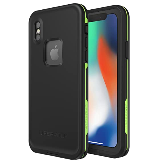 promo code 91413 f6806 LifeProof Series Waterproof Case for iPhone X (Black/Lime)