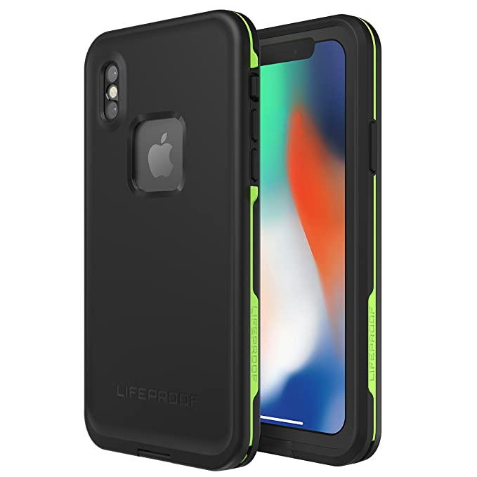 the best attitude be9b1 dc088 Lifeproof FRĒ SERIES Waterproof Case for iPhone X (ONLY) - Retail Packaging  - NIGHT LITE (BLACK/LIME)