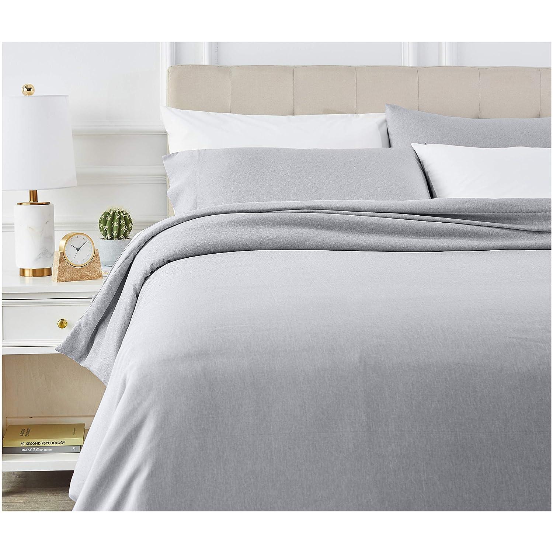 AmazonBasics - Juego de ropa de cama con funda de edredón, de microfibra, 200 x 200 cm, Azul marino claro: Amazon.es: Hogar
