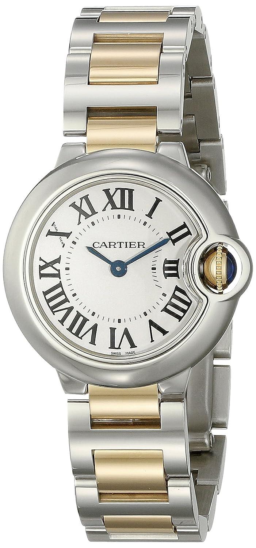 Cartier Women s W69007Z3 Ballon Bleu Stainless Steel and 18K Gold Watch