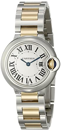 67cfb025be67f Amazon.com  Cartier Women s W69007Z3 Ballon Bleu Stainless Steel and ...