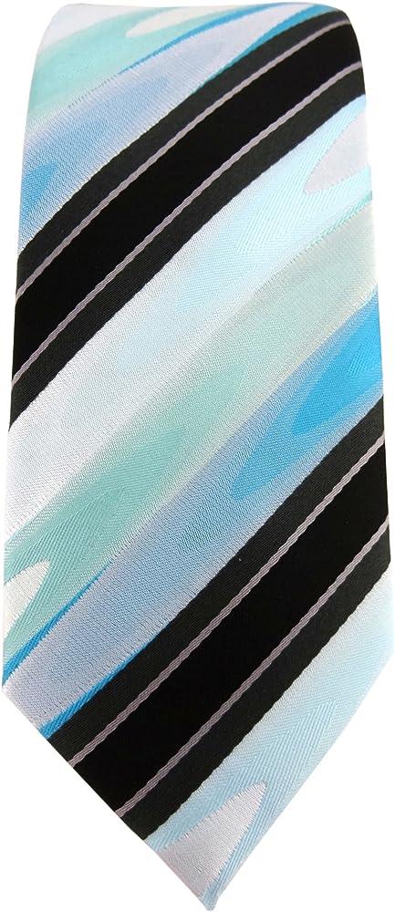 TigerTie - corbata estrecha - menta verde turquesa negro antracita ...