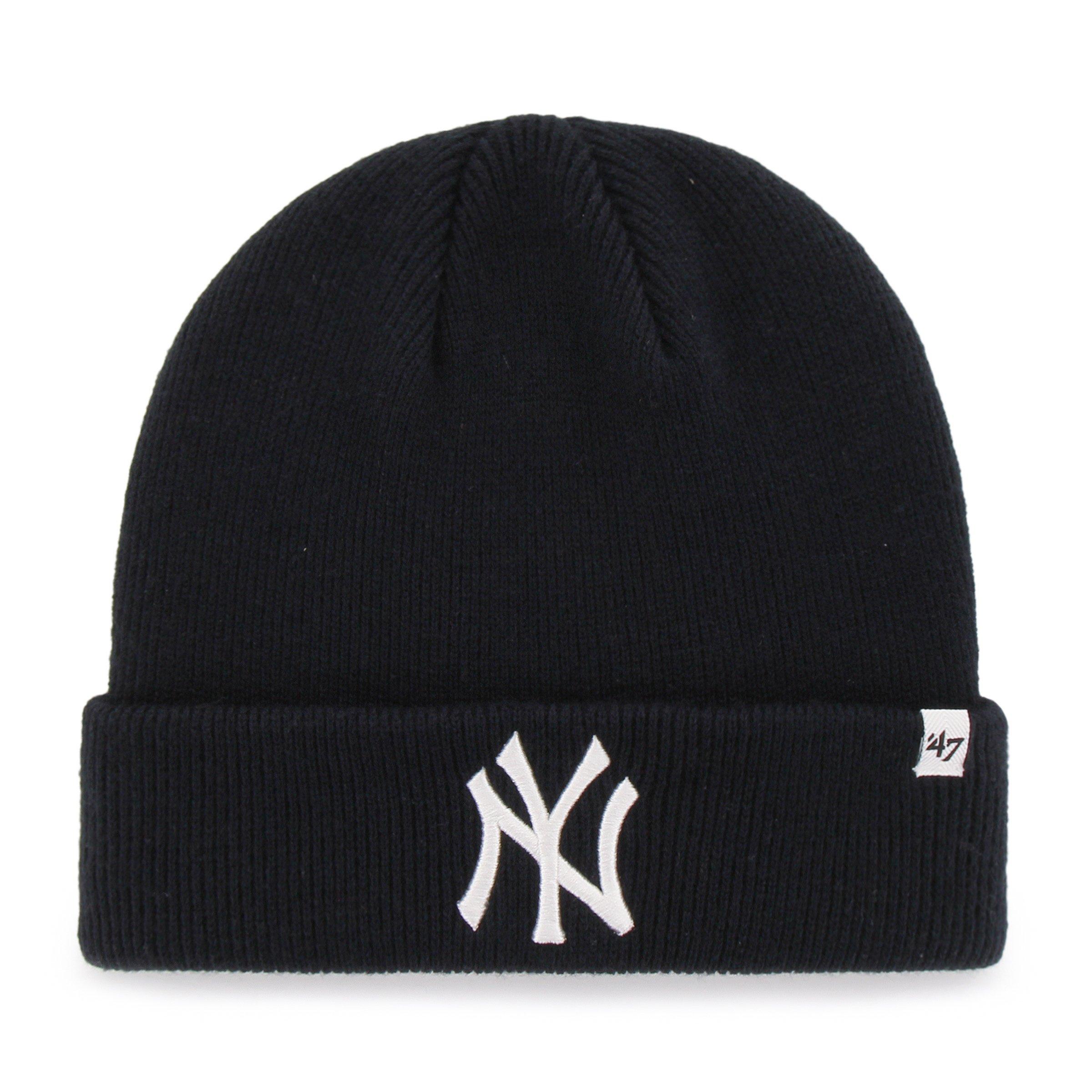 MLB New York Yankees '47 Raised Cuff Knit Hat, Navy, One Size