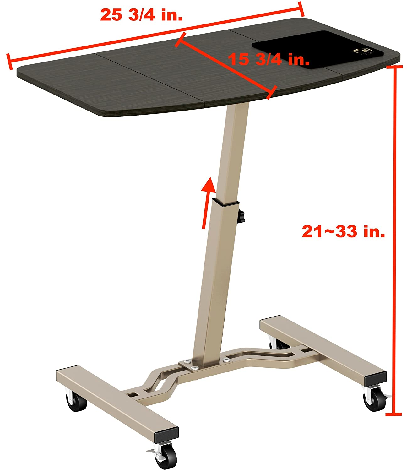 Amazon LeCrozz Height Adjustable Mobile Laptop Stand Desk Rolling Cart Kitchen & Dining