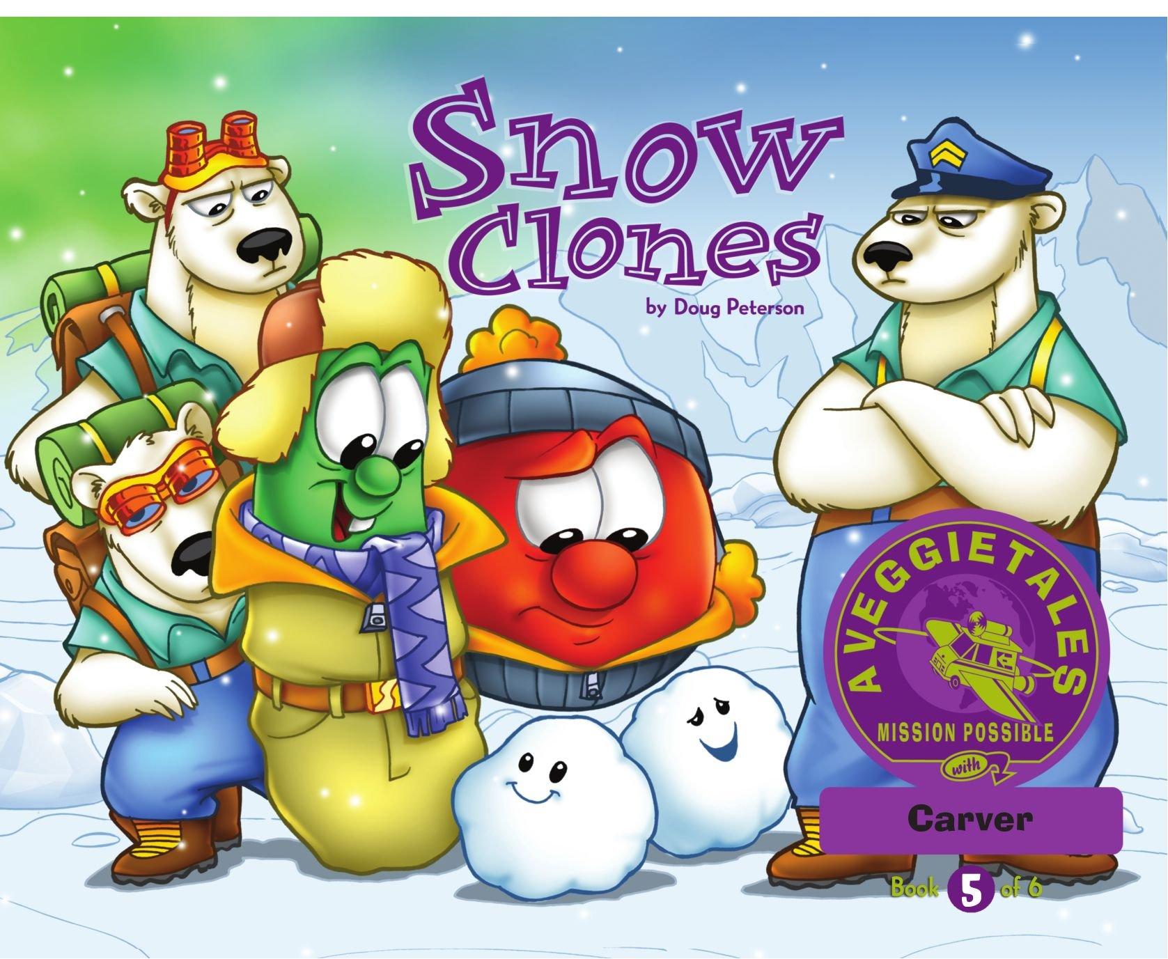 Read Online Snow Clones - VeggieTales Mission Possible Adventure Series #5: Personalized for Carver (Boy) pdf epub