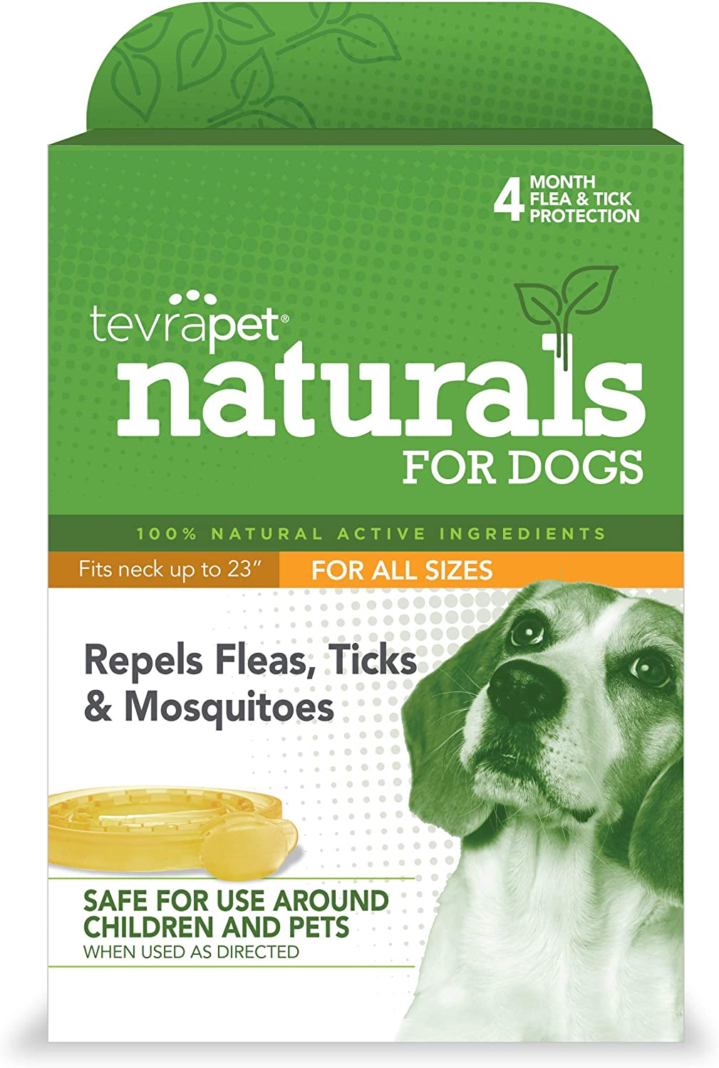 TevraPet Naturals Flea and Tick Prevention for Dogs, Natural Flea and Tick Collar – Repels and Controls Fleas, Ticks, and Mosquitoes