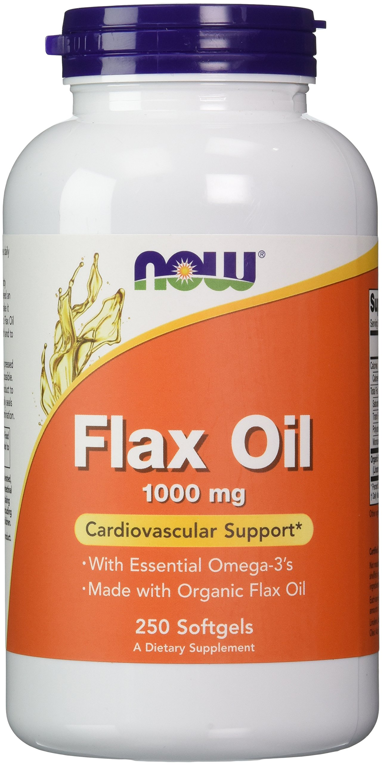 Now Flax Oil 1000 mg,250 Softgels