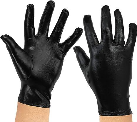 Skeleteen - Guantes de Disfraz de superhéroe, Color Negro metálico ...
