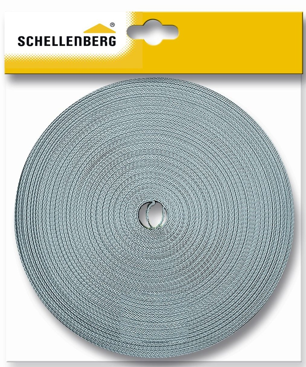 Schellenberg 81202 - Correa de persiana (18 mm, 12 m), color gris