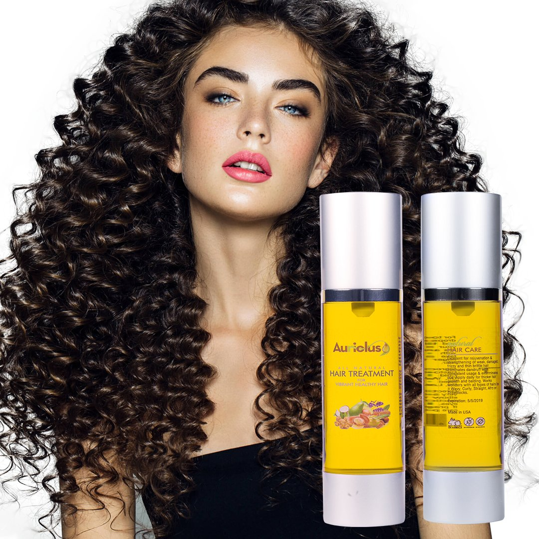 Auriolus Natural Hair Oil for Growth Strength and Dryness. Olive Argan Moroccan Castor Coconut Almond Oil Hydrates Moisturizes and Eliminate Frizz and Thinning. 1.7 oz I Men & Women I Made in USA by Auriolus (Image #9)
