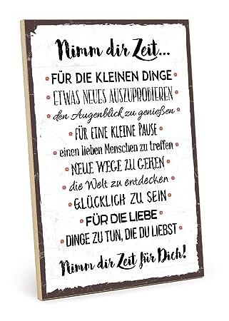 nimm dir zeit sprüche TypeStoff Holzschild mit Spruch – NIMM DIR Zeit – im Vintage Look  nimm dir zeit sprüche
